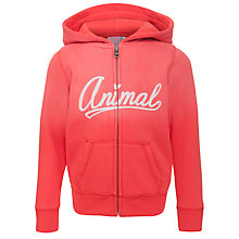 Buy Animal Girls' Saharie Zip-Through Hoodie, Poppy Red Online at johnlewis.com