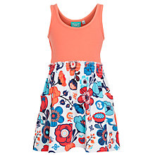 Buy Animal Girls' Laylah Floral Jersey Dress, Peach/Multi Online at johnlewis.com