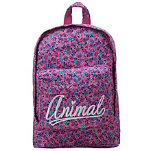 Buy Animal Girls' Jacie Floral Backpack, Pink/Purple Online at johnlewis.com