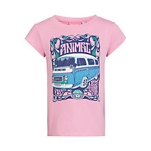 Buy Animal Girls' Achole Campervan Graphic Logo T-Shirt, Pink Online at johnlewis.com