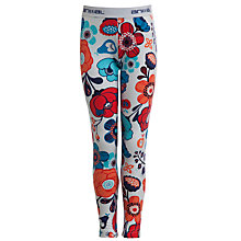 Buy Animal Girls' Willoo Floral Print Leggings, Multi/White Online at johnlewis.com