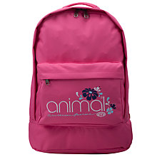 Buy Animal Girls' Aklan Backpack, Pink Online at johnlewis.com