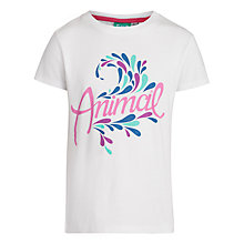 Buy Animal Girls' Abelle Graphic T-Shirt, White Online at johnlewis.com