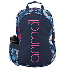 Buy Animal Alcuda Bottle Backpack, Blue Online at johnlewis.com