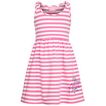 Buy Animal Girls' Layna Stripe Jersey Dress, Pink/White Online at johnlewis.com
