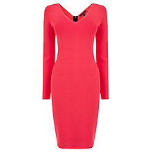 Buy Coast Valerie Knitted Dress, Pink Online at johnlewis.com