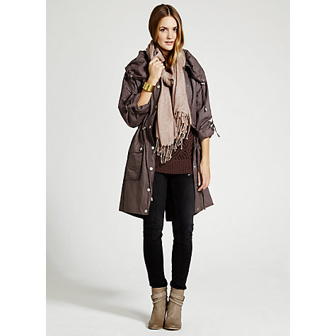 Buy Mint Velvet Pleat Collar Parka Online at johnlewis.com