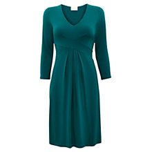 Buy East Pleat Detail Jersey Dress, Dark Peacock Online at johnlewis.com