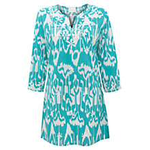Buy East Sol Print Cotton Kurta, Peacock Online at johnlewis.com
