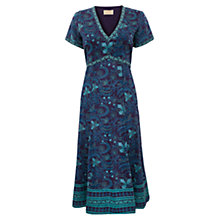 Buy East Fresco Jal Dress, Purple Online at johnlewis.com