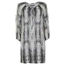 Buy Mint Velvet Billie Print Zip Front Dress. Grey Multi Online at johnlewis.com