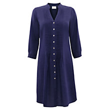 Buy East Linen Pintuck Shirtdress, Purple Online at johnlewis.com