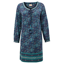 Buy East Genoa Jal Print Dress, Purple Online at johnlewis.com