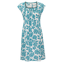 Buy East Rosina Print Linen Dress, White Online at johnlewis.com