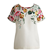Buy Joules Vivianne Top, Creme Posey Online at johnlewis.com
