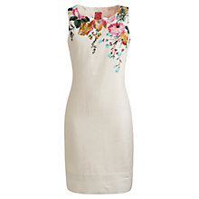 Buy Joules Lorelli Print Dress, Creme Posey Online at johnlewis.com