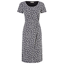 Buy Precis Petite Spot Print Jersey Dress, Blue Online at johnlewis.com
