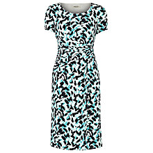 Buy Precis Petite Brush Print Jersey Dress, Blue Online at johnlewis.com
