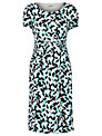 Precis Petite Brush Print Jersey Dress, Blue