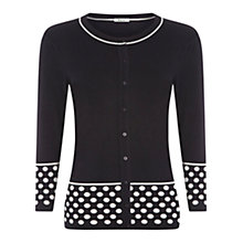 Buy Precis Petite Spot Section Cardigan, Blue Online at johnlewis.com