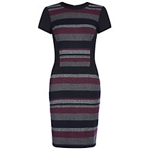 Buy Hobbs Songlines Dress, Midnight Blue Multi Online at johnlewis.com