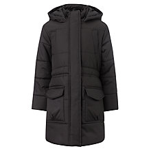 Buy John Lewis Girls' Padded School Coat, Black Online at johnlewis.com