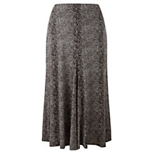 Buy Viyella Snake Print Jersey Skirt, Espresso Online at johnlewis.com