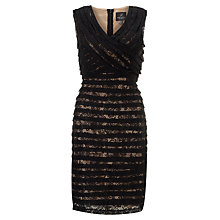 Buy Adrianna Papell Crossover Bodice Dress, Black Online at johnlewis.com