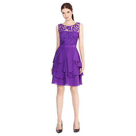 Buy Coast Daymee Dress, Purple Online at johnlewis.com