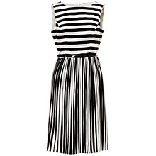 Buy Adrianna Papell Stripe Chiffon Dress, Black/White Online at johnlewis.com