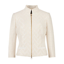 Buy Ted Baker Idelle Flared Peplum Jacket, Cream Online at johnlewis.com