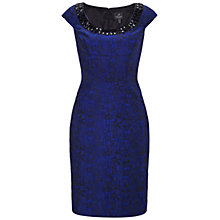 Buy Adrianna Papell Necklace Sheath Dress, Black/Blue Online at johnlewis.com