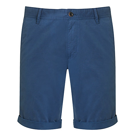 Buy BOSS Orange Schino Twill Shorts, Mid Blue Online at johnlewis.com