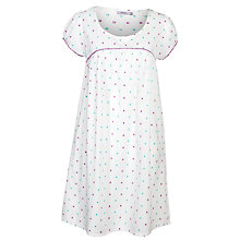 Buy John Lewis Dobby Spot Nightdress, Multi Online at johnlewis.com