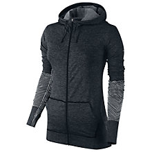 Buy Nike Epic Pro Training Full Zip Up Hoodie, Black/Grey Online at johnlewis.com