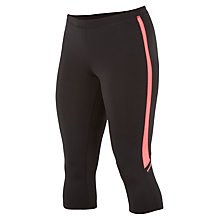 Buy Saucony Ignite Capri Pants, Black/Coral Online at johnlewis.com
