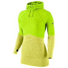 Buy Nike Women's Pro Training Hoodie, Volt/Yellow Online at johnlewis.com