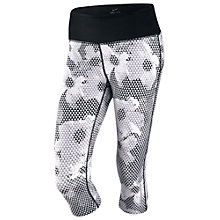Buy Nike Epic Printed Cropped Running Tights, White/Black Online at johnlewis.com