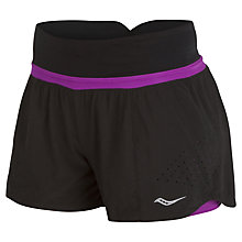 Buy Saucony Destiny 2-In 1 Shorts, Black Online at johnlewis.com