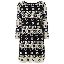 Buy Phase Eight Cleo Mono Crochet Lace Dress, Black/Ivory Online at johnlewis.com
