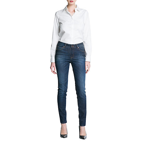 Buy Mango London High Waist Jeans Online at johnlewis.com