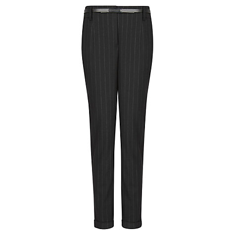 Buy Mango Stripe Suit Trousers, Black Online at johnlewis.com