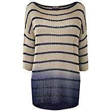 Buy Phase Eight Demi Dip-Dye Jumper, Navy/Cream Online at johnlewis.com