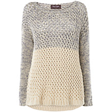Buy Phase Eight Courtney Chunky Jumper, Cream Online at johnlewis.com