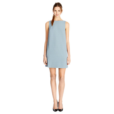 Buy Warehouse Cocoon Shift Dress, Light Blue Online at johnlewis.com