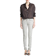 Buy Mango Printed Cotton Shirt, Dark Grey Online at johnlewis.com