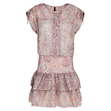 Buy Mango Ruffled Skirt Dress, Pastel Pink Online at johnlewis.com