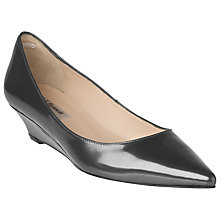 Buy L.K. Bennett Perla Court Shoes, Black Patent Online at johnlewis.com