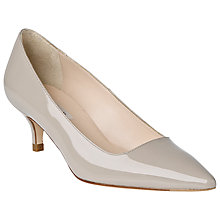 Buy L.K. Bennett Minu Leather Court Shoes, Clay Patent Online at johnlewis.com