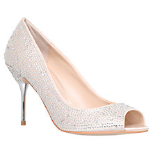 Buy Carvela Grid Court Shoes, Cream Online at johnlewis.com